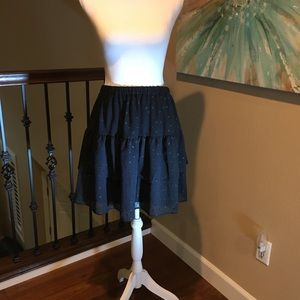 New with Tag, Loft Tiered Skirt, with sparkle